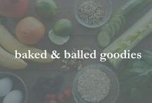 baked & balled goodies / muffins, loaves, baked items & balls