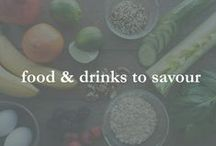 food & drinks to savour / desserts, alcohol & other indulgences