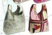 sacs. DIY * bags / ... à main, pochette, pour les courses ...  / by Véronique Pixie