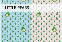 """""""Little Pears"""" SaNe-Stücke Stoffdesign für Stoffversand4u / SaNe-Stücke Stoffdesign """"Little Pears"""" für Pumuckl Stoffversand4u"""