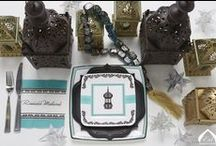 Ramadan Lantern Creations / Black, white, turquoise  damask, lantern theme Ramadan and Eid Decorations and party supplies