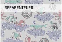 """""""Seeabenteuer"""" SaNe-Stücke Stoffdesign für Stoffversand4u / SaNe-Stücke Stoffdesign """"Seeabenteuer"""" für Pumuckl Stoffversand4u"""