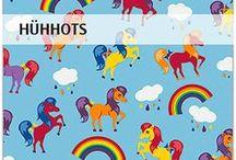 """""""Hühhots"""" SaNe-Stücke Stoffdesign für LeoNel / Exklusives Stoffdesign """"Hühots"""" für LeoNel von SaNe-Stücke, Pferdemotiv"""