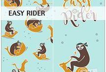 """""""Easy Rider"""" SaNe-Stücke Stoffdesign für Stoffversand4u / SaNe-Stücke Stoffdesign """"Easy Rider"""" exklusiv für Stoffversand4u.de"""