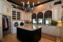 Lux Laundry Rooms, Laundry Room Makeovers, and Mud Rooms / If You Must Do Laundry, You Might As Well Do It in Style... / by T Almon