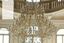 Elegant Crystal Chandeliers and Illuminations / Sparkling, Glittering Lighting / by T Almon