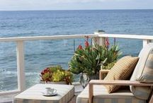 Water Water Everywhere ~ Beach Decor / From beach bungalows to sprawling homes on the water's edge.