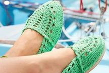 Slippers and Leg Stuff / Crochet patterns for slippers and boot cuffs