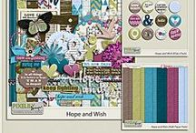 {Hope and Wish} Digital Scrapbook Kit by Pixelily Designs