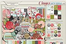 {All You Need is Love} Digital Scrapbook Kit by Pixelily Designs