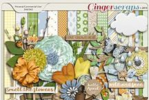 {Showers to Flowers} Digital Scrapbook Kit by Pixelily Designs