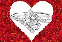 """TWOgether Collection / """"ONE plus ONE equals US"""" Two diamonds come together to represent love and friendship!"""