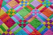 Threads: Quilts: Patchwork / Patchwork, applique, quilting stitches, quilted items.   / by Wendy Peckham