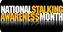 Stalking Awareness & Prevention / #Stalking is a crime in all 50 states and U.S. Territories. January is National Stalking Awareness Month. Learn the facts and help raise awareness about this dangerous and pervasive crime at www.stalkingawarenessmonth.org