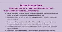 Safety Plans / Leaving an abusive relationship can be the most dangerous time. Having a plan helps to give a survivor and her children ways to remain safe before and after she leaves.  #SafetyPlanning     #EndDV     #HelpForSurvivors