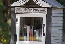 Tiny Lawn Libraries / Little Library in your front lawn to share books. Take One, Leave One, Share Please, Not for ReSale!