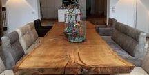 Holztische|Esstische aus Holz / Eine schöne Sammlung von Holztischen/ Esstischen aus verschiedenen Materialien. Tische aus Holz in allen Formen, Arten, Hölzern...Ideal für das Wohnzimmer oder Esszimmer...