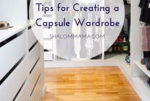 """Capsule Wardrobe / """"A capsule wardrobe is a collection of a few essential items of clothing that will not go out of fashion, such as skirts, trousers, and coats, which can then be augmented with seasonal pieces."""""""