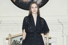 Roland Mouret: The Face of Lace / Clever in its construction, this day-to-night selection balances a classic aesthetic with contemporary silhouettes for a directional take on feminine tailoring. Sheer detailing is embroidered with a delicate and complex radial design, creating a masterful lace fabric that is seemingly delicate to the touch. / by Roland Mouret