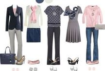"""Capsule Wardrobe: Grays, Blues, and Pink / I'm creating a capsule wardrobe around the colors gray, blues, and pink. I'm going to choose 2-3 jeans and 2-3 skirts, 5 tops, 2-3 cardigans/sweaters, 2 pairs of flat shoes, and one pair of heels. These are my shopping ideas and ideas I want to make myself. This isn't the extent of my wardrobe, just my everyday """"uniform"""". Casual and comfortable, but still makes me feel pretty."""