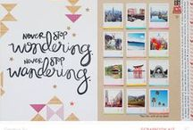 Layout Inspiration / Scrapbooking and Memory Keeping ideas
