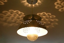 Bright Light Ideas / Creative things to make light fixtures from!!!