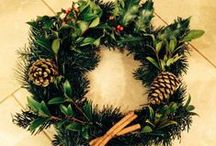 Certainly Wood Christmas Wreaths  / Getting into the Christmas spirit by creating our own Christmas wreaths