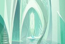 Comic Scenery / Background and scenery illustrations - atmospheric inspiration