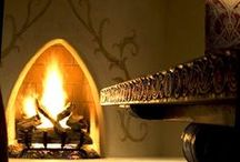 Fireside  / There is no place more delightful than one's own fireplace. ~Cicero 106 BC-43BC