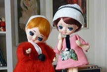 Vintage Big Eye Kitsch Dolls / Blythe, Japanese Pose Dolls and other Vintage kitsch dolls with big eyes