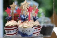 4th of July Decorations / Americana decorations for 4th of July by handcrafted lifestyle expert Lia Griffith
