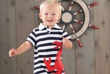 {Theme} Nautical Baby ☸ Anchor's Aweigh! / Set sail with some nautical inspiration for all things baby! Items featuring anchors, sailboats, and ocean waves will lend you ideas and inspiration for baby gifts, baby shower themes, and some great favors! / by Corner Stork Baby Gifts