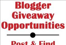 Blogger Opportunities - Giveaway Participation / This is a board to post your giveaway event opportunities. Please spread the word & invite other bloggers who post giveaway buy-ins/opportunity.   If you would like to be added, please leave a comment on the board cover: http://www.pinterest.com/pin/20055160814187783/ Please follow me http://www.pinterest.com/freestylemama/ and I will follow you back before adding. / by Diana Rambles