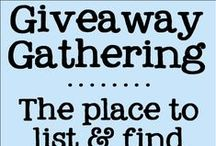 Giveaway Gathering / A place for bloggers to share their giveaways.  Want to be added? Follow me http://www.pinterest.com/dianarambles/ AND leave a comment on the board cover http://www.pinterest.com/pin/20055160814400620/ to be added. I will follow you back & then invite you to contribute. Contributors, feel free to invite other bloggers to pin their giveaways. No duplicates please! PLEASE---> For each pin  you add, make sure you repin something else from the board to another board.