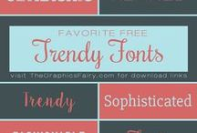 Fonts and Printables / Free Fonts and Printables