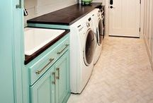 Laundry Is Fun (Not) / Laundry room ideas and storage, clever laundry storage, ironing, laundry room inspiration, laundry baskets, cleaning storage, hanging bar