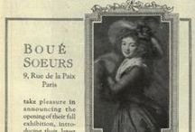 """~~ House of Boue Soeurs ~~ / House of Boue Soeurs  (1899-1935) Madame Sylvie Boué Montegut and Baronne Jeanne Boué d'Etreillis  became well known for their recognizable style in Paris. Known as """"seagulls of lace"""""""