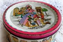 ~ Grandma's Button Tin ~ / Do you remember your button tin from home? usually a beautiful old Quality St tin full of colour, pattern and scrumptious goodies...