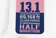 Half Marathon Gifts / Great originally designed gifts for any runner who loves to run Half Marathons! goneforarun.com