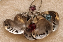 Sterling Silver Fingerprint Neckalces from Wee Piggies and Paws / by Christina (Murphy) Crowdis