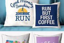 Runner's Home Decor / Add some running inspiration and motivation to your home with our exclusively designed running home decor. From SportsWORDS, wall decals, decorative pillows, room signs and more, find all of home necessities at goneforarun.com