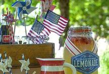 fourth of july / Independence day is one of my favorite holidays! I LOVE visiting with family, friends, and the fun 4th of July themed food! You can have so much fun with a red, white, and blue theme. <3 / by michelle mospens
