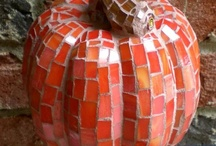 Halloween Mosaics / Feeling inspired to create a mosaic?  Use PromoCode PIN5 to save 5% off all of your handcut, stained glass tiles at www.MosaicTileMania.com. / by Mosaic Tile Mania