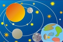 Outer space, earth, universe / education