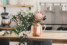 HOME DECOR / A mix of colorful and bohemian home decorations combined with some fresh Scandinavian goodness. And plants, lots and lots of plants!