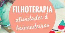 Atividades de Filhoterapia / Atividades para as crianças se divertirem em casa ou durante as férias. Inspirações para mães, pais e filhos brincarem juntos.