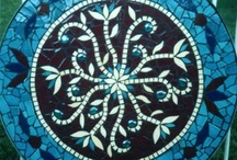 Mosaic Tables & Countertops / Feeling inspired to create a mosaic?  Use PromoCode PIN5 to save 5% off all of your handcut, stained glass tiles at www.MosaicTileMania.com. / by Mosaic Tile Mania