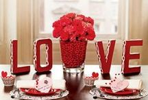 valentine's day party / Adorable ideas for a SWEET Valentine's Day Party! Red, pink, and white party decor and Valentine themed desserts.