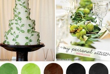 green wedding / Brilliant green hues make a lovely color scheme for your wedding. Bright clover green, mint, olive, and rich lime blend perfectly with black, gold, silver, or gray. Add a pop or pink, yellow, or blue as an accent color.