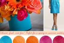 orange wedding / Orange is fresh and fun for spring or summer weddings. Orange paired with pink, gray, gold, light brown, orange coral, or silver creates a beautiful warm combo.